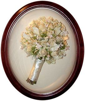 Victorian Oval with freeze-dried wedding bouquet