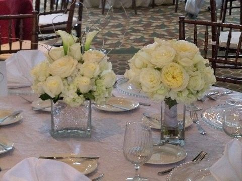 Table Centerpiece and Bridal Bouquet