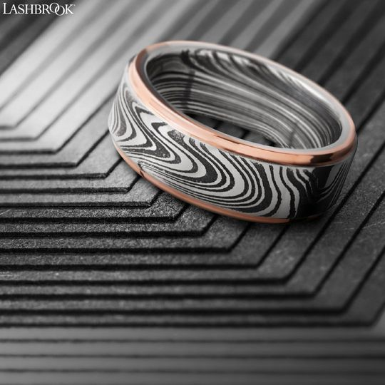 Damascus and rose gold