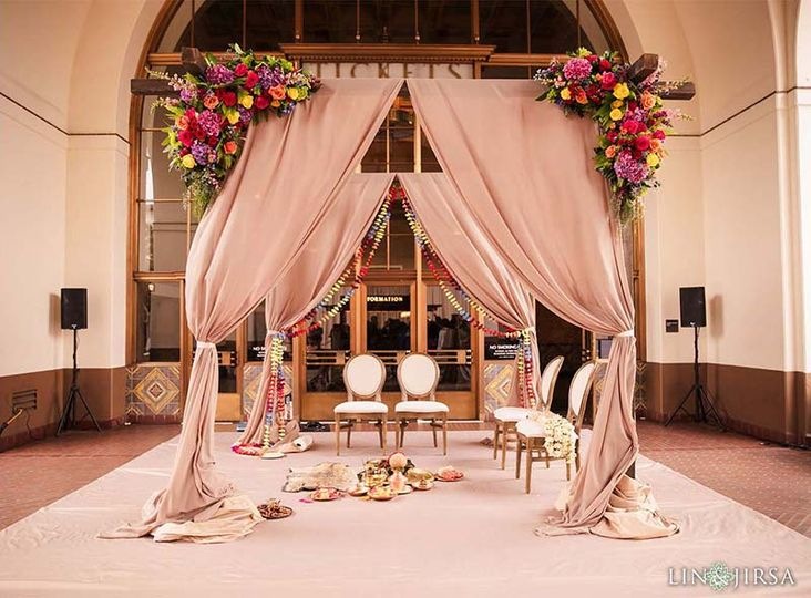 Vibrant wedding chuppah