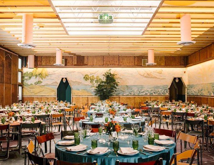 Colorful indoor wedding