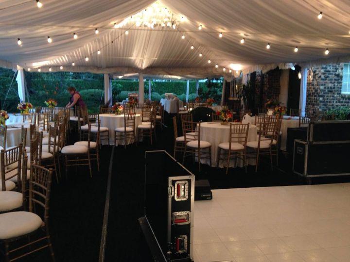 Marquee reception venue