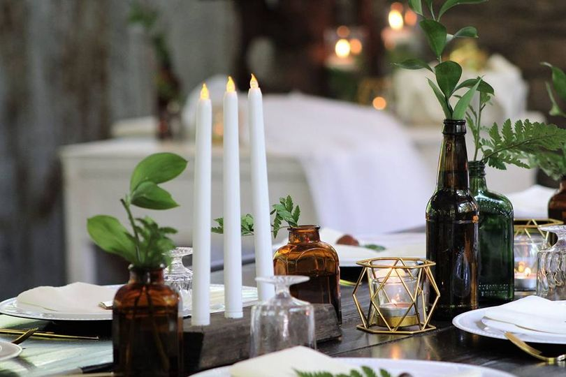Earth & Candle Table Setting