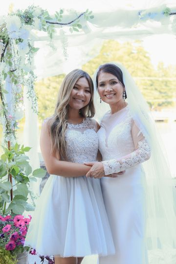 Daughter and bride