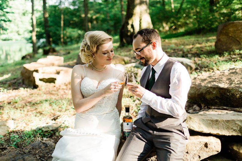 Backyard Pittsburgh wedding