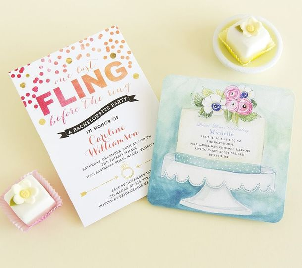 One Last Fling Bachelorette Party Invitation in Blaze Designed by: East Six Design for Wedding Paper...
