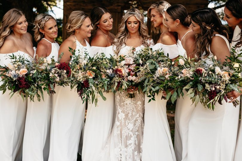 Ivory Dress Bridal Party