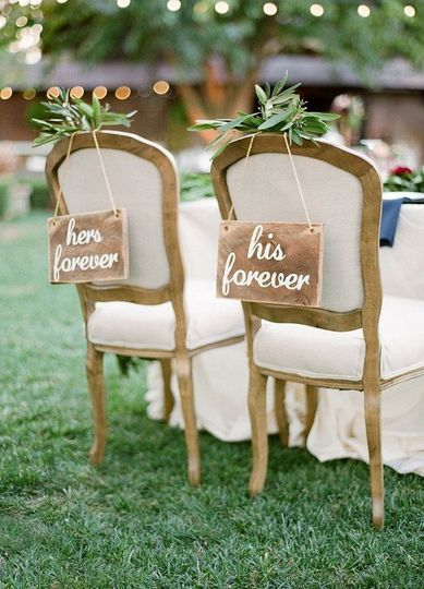 Vintage sweetheart chairs