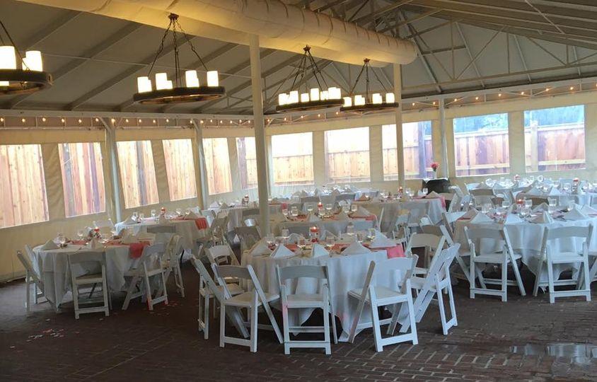 MT Wedding Reception in tent