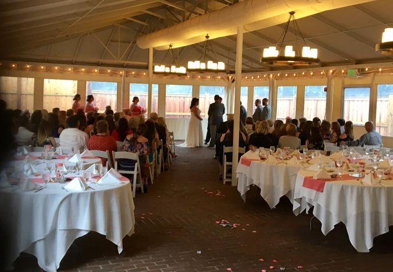 MT Wedding Ceremony in tent