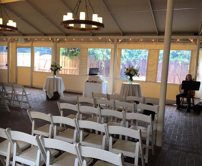 MT Wedding Ceremony under tent