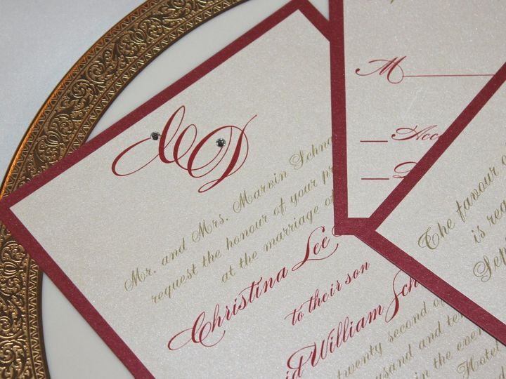 Tmx 1359423699957 088 Montvale wedding invitation