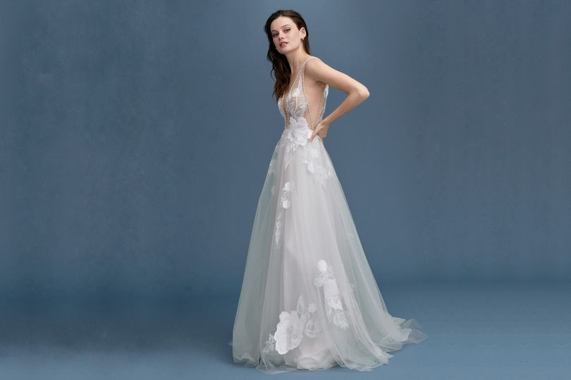 Ethereal flowing gown