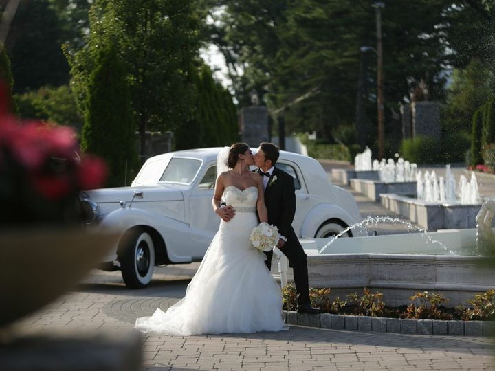 Tmx 1484407277392 Bg Kissing By Fountain And Rolls Royce New Rochelle, New York wedding venue