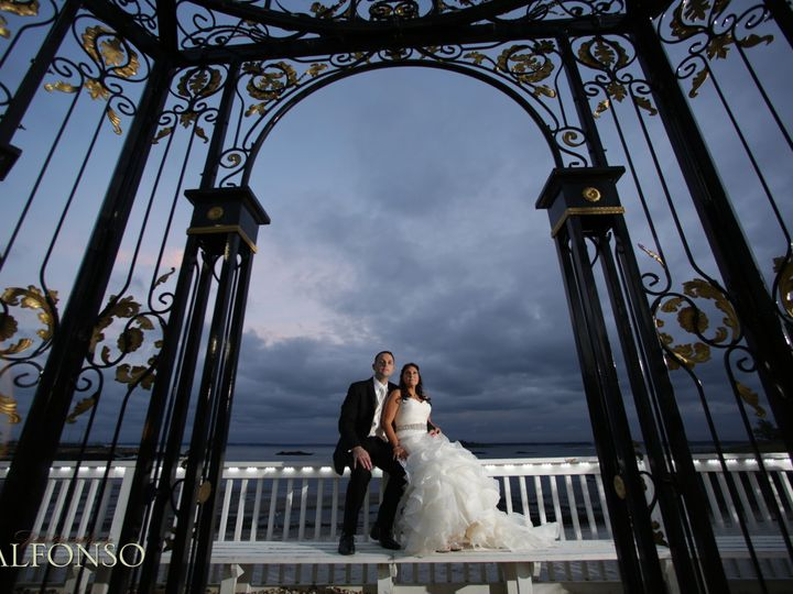 Tmx 1484407425060 Bg Sitting Behind Gazebo With Clouds Dusk New Rochelle, New York wedding venue