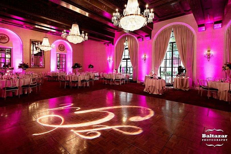 Reception set-up and lighting