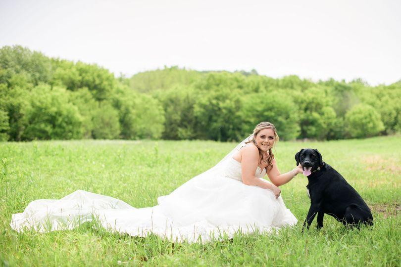 Bride & Dog