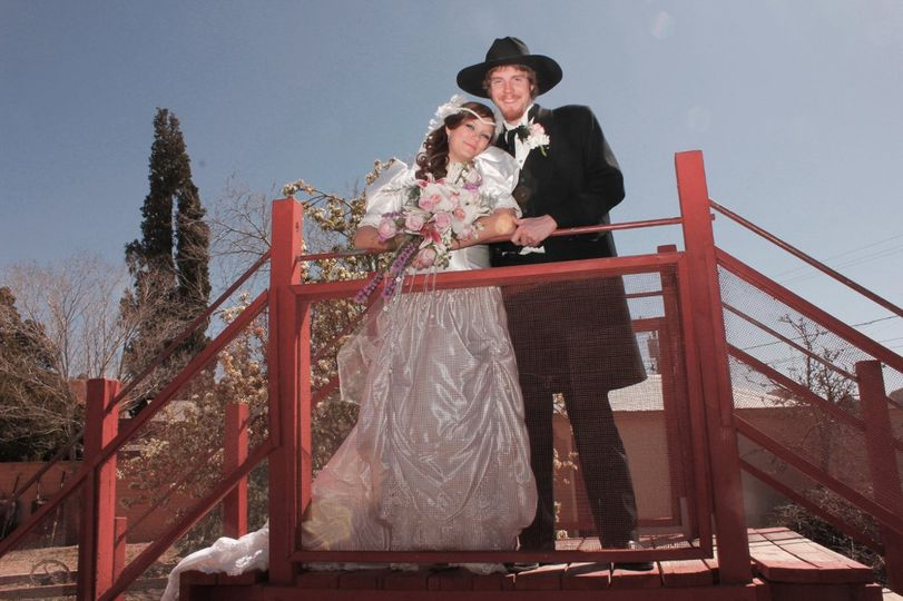 Wedding Ceremony at The Rose Tree Museum. Costume Rental & Photography by Sadie Jo Tombstone Costume...