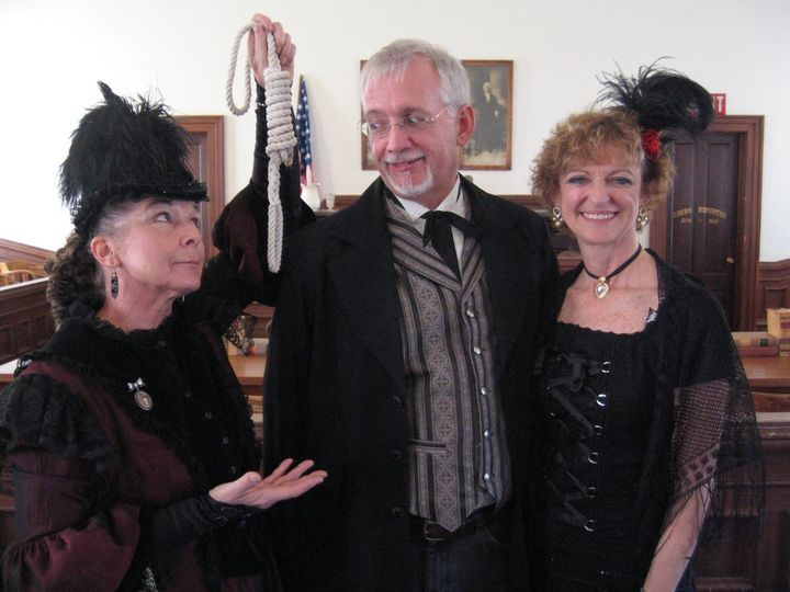 Wedding Ceremony at The Courthouse Museum.Costume Rental & Photography by Sadie JoTombstone Costume...