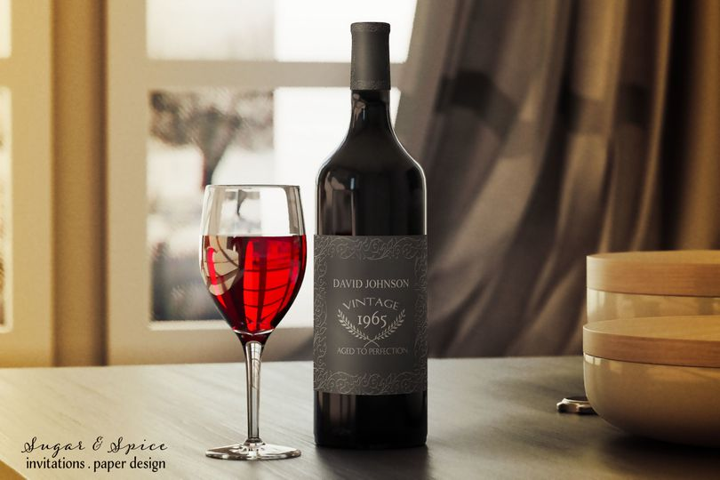 Aged to perfection wine bottle labels