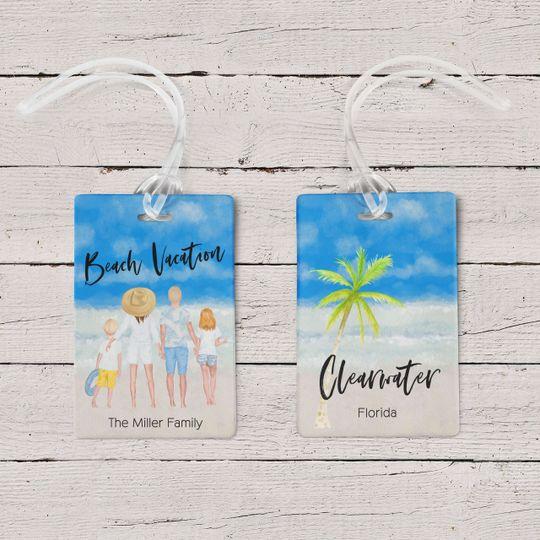 Beach Family Luggage Tags