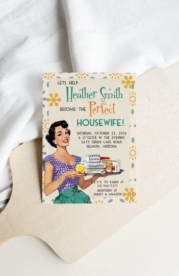Retro Housewife Bridal Shower