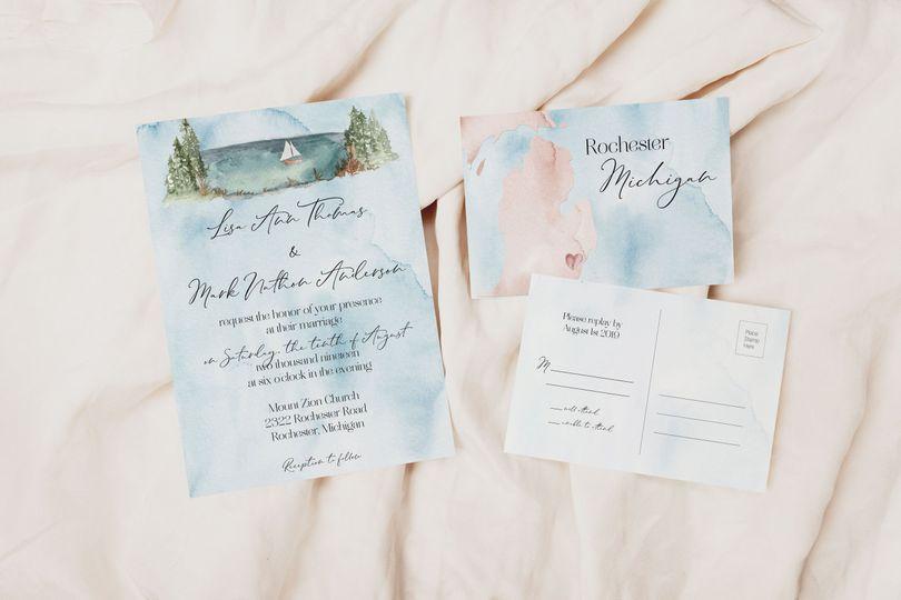 watercolor michigan wedding invitation 51 927559 161789949918780