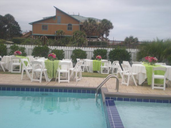 Pool area with table set-up