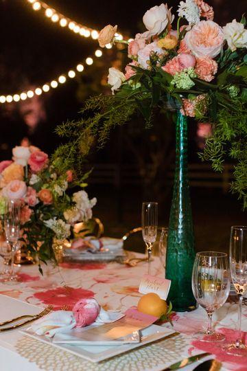 Romantic evening reception