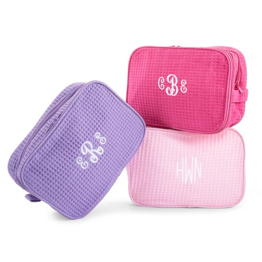 Hello gorgeous! Add names or monograms to these makeup bags for your bombshell bridesmaids!