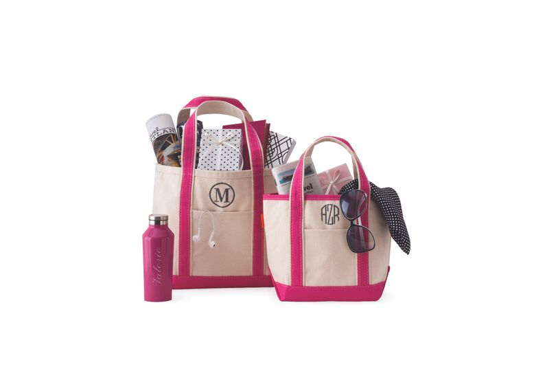 Build the perfect bridesmaid bundle for your girls. Start with a personalized tote!