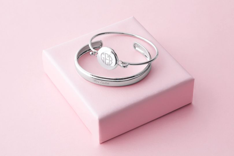 Jewelry is perfect to personalize with their name or monogram, and a message from you!