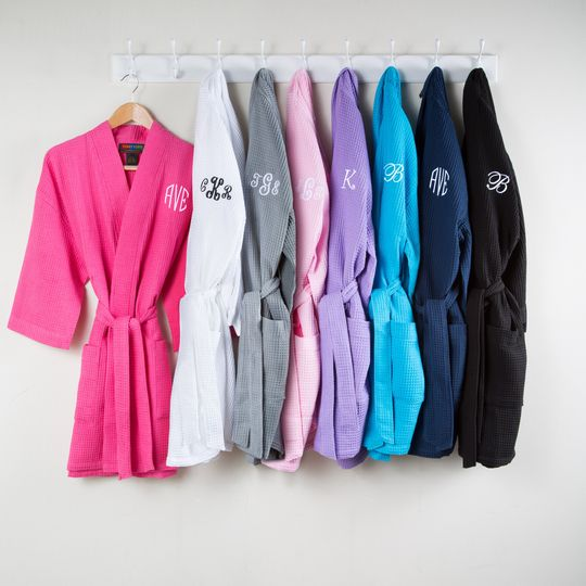 Personalized robes are a great bridesmaid gift, and perfect for getting wedding-day ready.