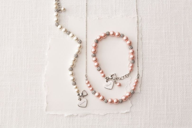 Add their name or monogram, and a message from you, for an unforgettable bridesmaid gift.