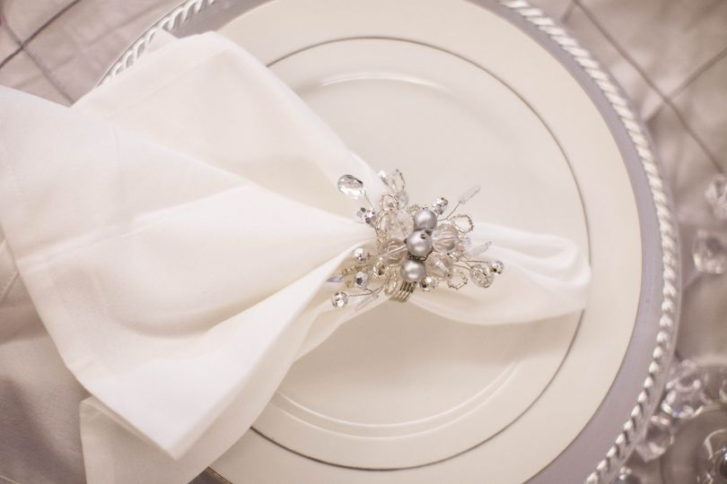 White plate and table napkin