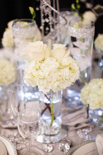 White flower centerpiece