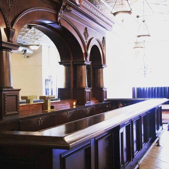 Antique brunswick bar