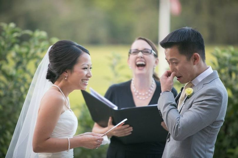 Rev. Jennifer Tan Officiant Culinary Institute of America at Greystone, St. Helena Sabine Scherer...