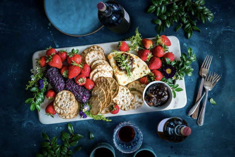 Bright and enticing charcuterie