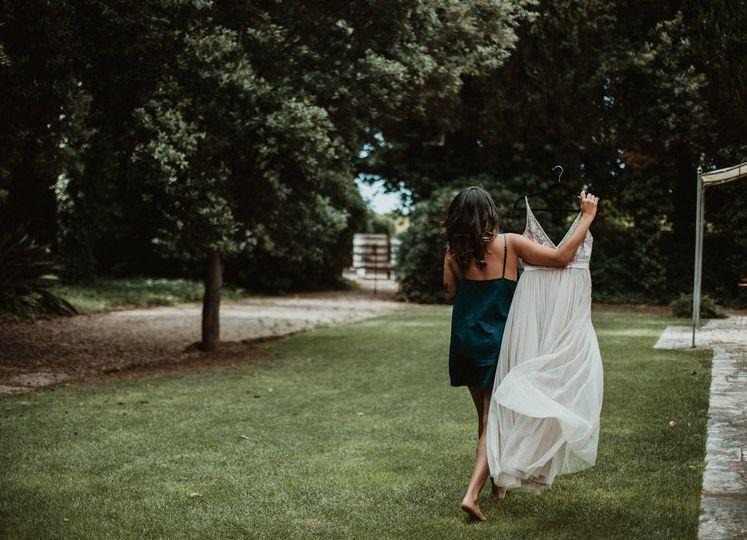 Documentary wedding photograph