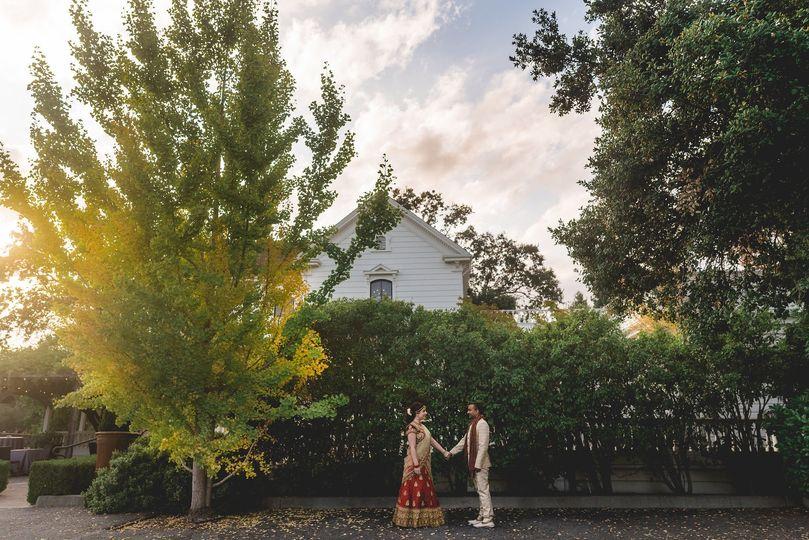 indian hindu wedding portrait
