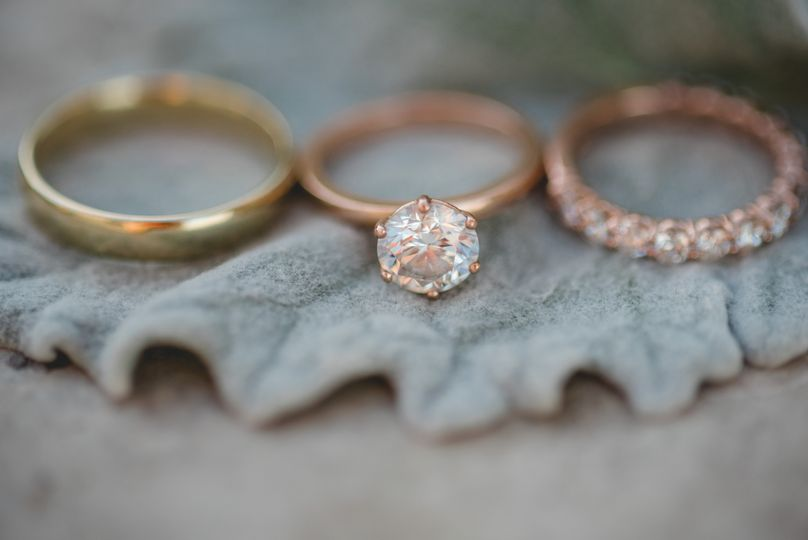 Details of wedding couple ring