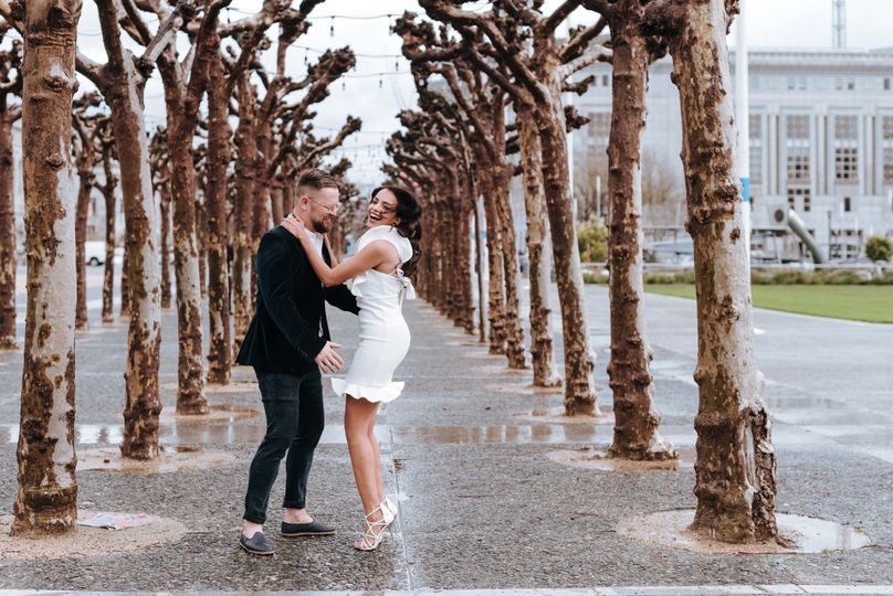 Bay area rainy day elopement