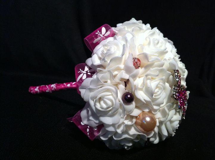 flower girl bouquet pink