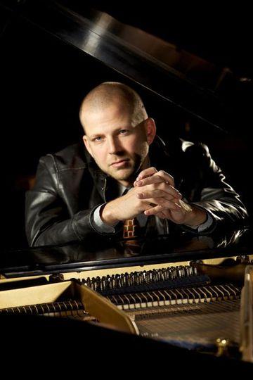 Kit Taylor at his piano