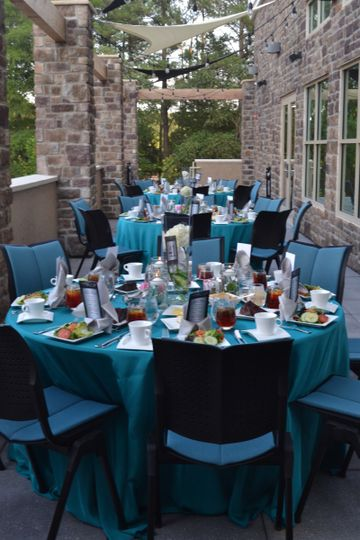 Our outdoor patio offers an ideal setting for cocktail hour or small, intimate events