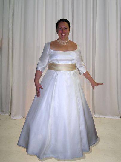 Custom Gown/Custom Dyed Sash