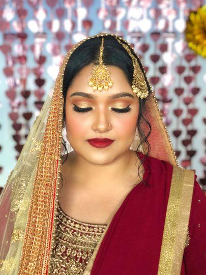 Bengali bridal styling