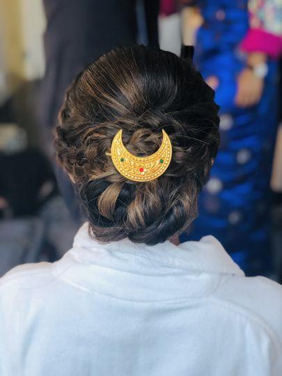 Nepali Sherpa Bridal hairstyle