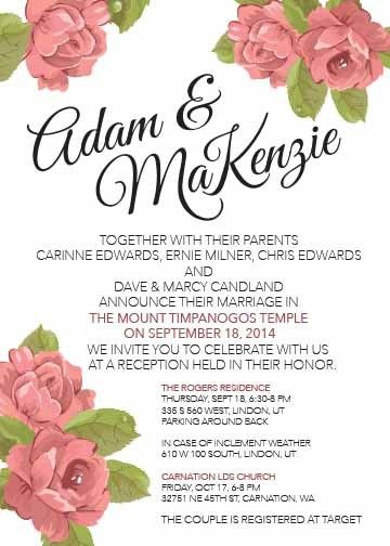 aafa98a530b6 MCC Wedding Invitations - Invitations - Mapleton